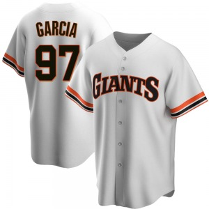 Jarlin Garcia San Francisco Giants Replica Home Cooperstown Collection Jersey - White