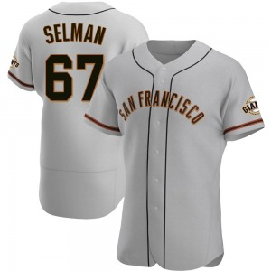 Sam Selman San Francisco Giants Authentic Road Jersey - Gray