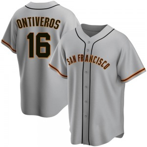 Steve Ontiveros San Francisco Giants Youth Replica Road Jersey - Gray