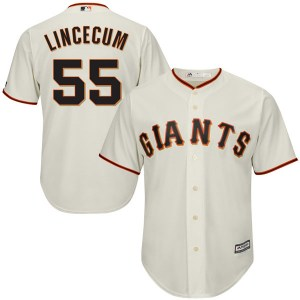 Tim Lincecum San Francisco Giants Authentic Cool Base Home Majestic Jersey - Cream